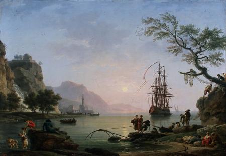 Joseph Vernet, Vue d'un port au matin