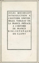 jules michelet,introduction à l'histoire universelle