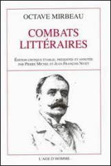 octave Mirbeau,Combats littéraires,citations