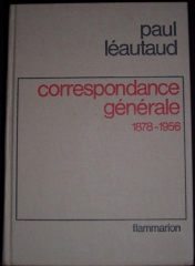 paul léautaud,correspondance générale,flammarion