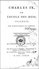 marie-joseph chénier,charles ix ou la saint-barthélemy