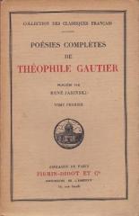 théophile gautier,poésies complètes,firmin-didot
