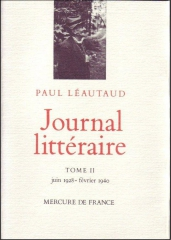 paul léautaud,journal littéraire,mercure de france