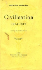citations,georges duhamel,civilisation,grande guerre,14-18,poilus