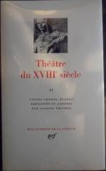 pléiade,théâtre du xviiie siècle